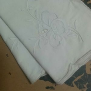 Other - Two White on White Embroidered Cutwork Napkins